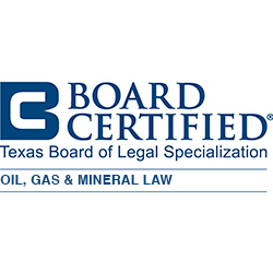 Board Certified, Oil, Gas and Mineral Law, Texas Board of Legal