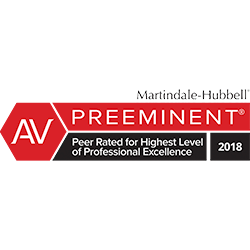 AV Preeminent Rated 2018